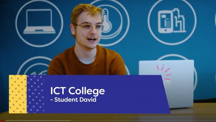 YouTube video - David studeert aan het ICT College in Nieuwegein