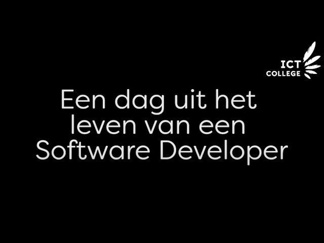 YouTube video - Een dag uit het leven van een Software Developer