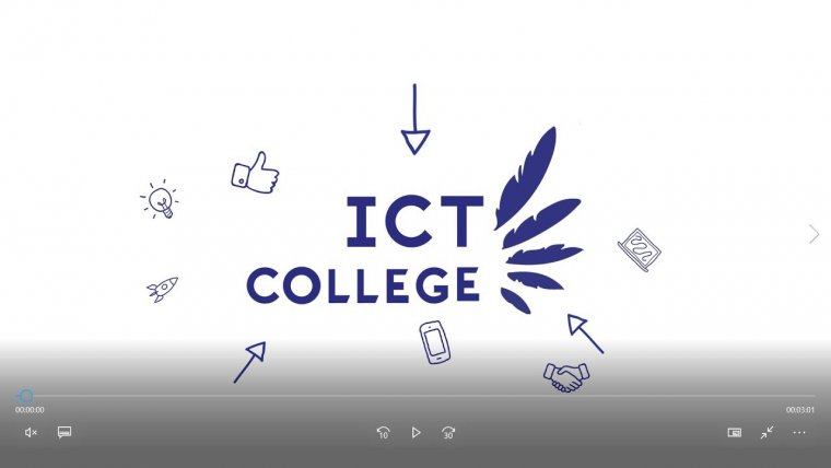 YouTube video - Welkom op het ICT College